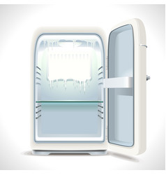 Old opened refrigerator vector