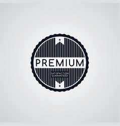 original premium label retro theme badge emblem vector image