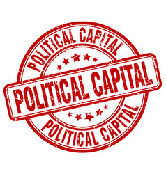 Political capital red grunge stamp vector
