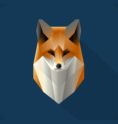 Polygon fox vector