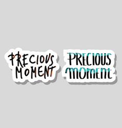 Precious moment poster concept design vector