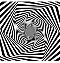 Psychedelic hypnotic spiral vector