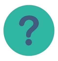 Question flat cobalt and cyan colors round button vector