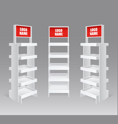 retail trade stand realistic set vector image