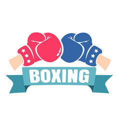 retro emblem for boxing vector image