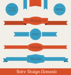 Retro web elements vector