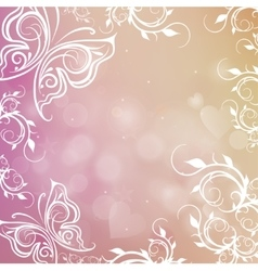 Romantic shiny blurred background with vector