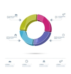 Round colorful chart divided into sectors vector