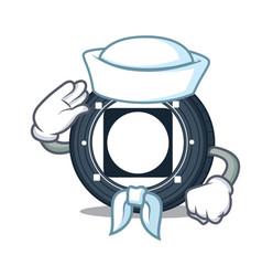 Sailor byteball bytes coin character cartoon vector