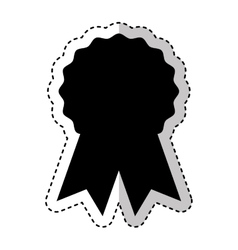 Seal with ribbon emblem vector