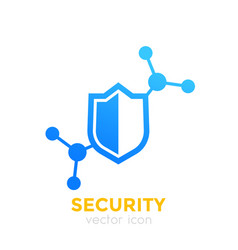 Security icon with shield vector