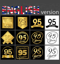 set of number 95 templates vector image