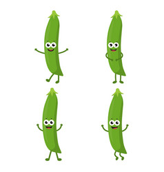 set with cartoon peas vector image