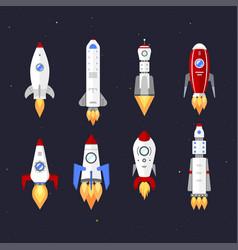 Technology ship rocket cartoon design vector