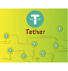 Tether cryptocurrency blockchain virtual vector