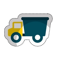 Truck baby toy icon vector