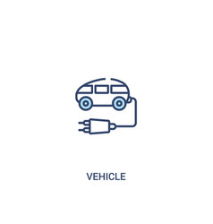Vehicle concept 2 colored icon simple line vector