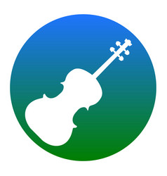 violine sign white icon in vector image