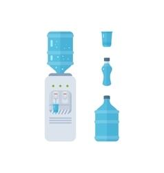 Water cooler Bottle office plastic and liquid vector