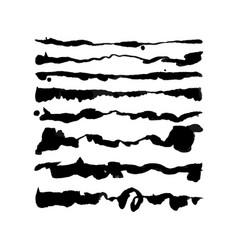 Watercolor script brushes set vector