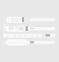 white event bracelets party entrance tickets vector image