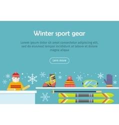 Winter Sport Gear Flat Design Web Banner vector