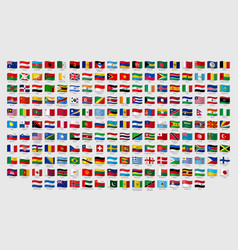 World national waving flags official country vector