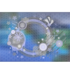 Abstract frame with background vector image