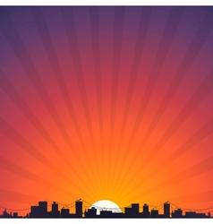 City silhouette at sunrise vector