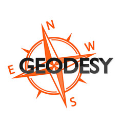 geodesy and the wind rose symbol vector image vector image