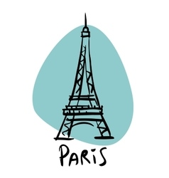 Paris the capital of France Eiffel tower vector image vector image