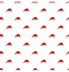 red christmas santa claus hat pattern vector image vector image