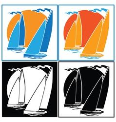 sailing set vector image