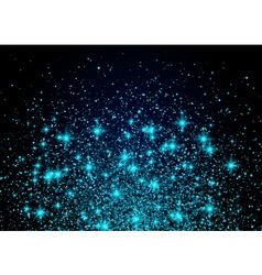 Sparkling background luminous blue Stars Explosion vector image vector image
