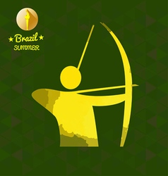 Brazil summer sport card with an yellow abstract a vector image