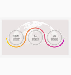 business infographics timeline with 3 options vector image vector image