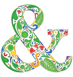 Colorful ampersand vector image
