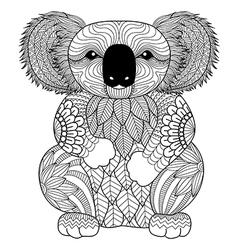 koala coloring book vector image vector image