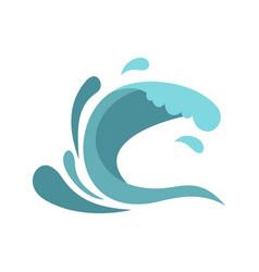 little wave icon cartoon style vector image