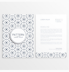 minimal elegant letterhead design with front and vector image vector image