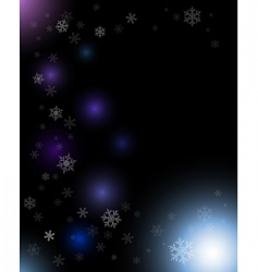 winter dark abstract composition vector image vector image