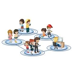 A social network vector image vector image