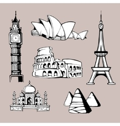 Architecture monuments vector