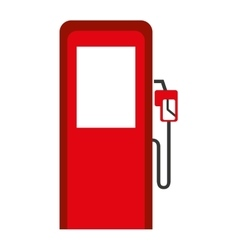 gasoline pump isolated icon design vector image