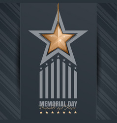 poster for memorial day vector image vector image