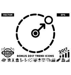 Round area border flat icon with 2017 bonus trend vector
