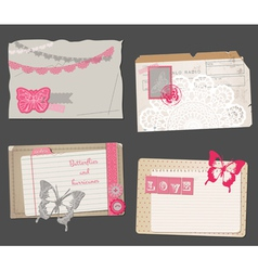 Set of Vintage Papers vector image vector image