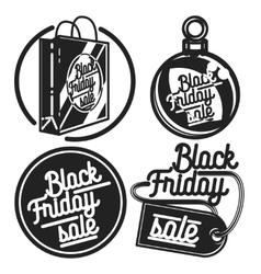 Vintage black friday sale emblems vector