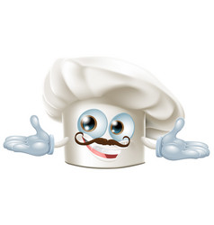 cute chef hat mascot vector image vector image