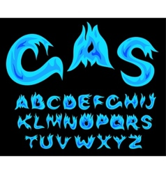 gas alphabet vector image